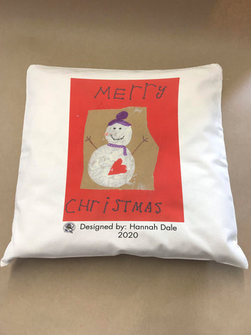 Wargrave C of E Primary School Personalised Cushion Cover with Child's Drawing