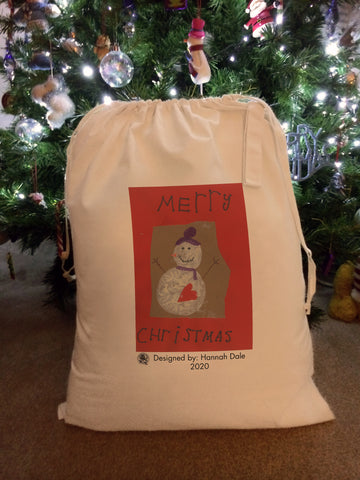 Wargrave C of E Primary School Personalised Santa Sack with Child's Drawing