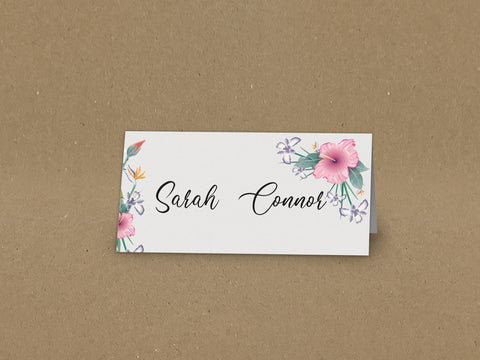 WD15 - Personalised Wedding Flowers Placecards