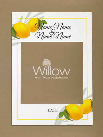 WD14 - Personalised Wedding Fresh Lemons Social Media Frame