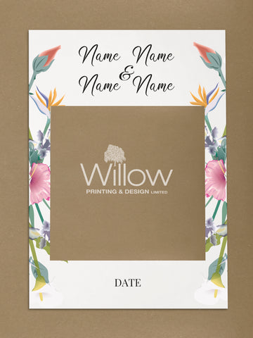 WD15 - Personalised Wedding Flowers Social Media Frame