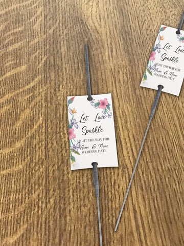WD15 - Personalised Wedding Flowers Sparkler Tags