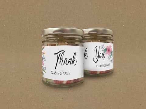 WD15 - Personalised Wedding Sweet Jar
