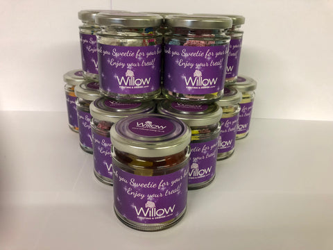 Promotional Branded Sweet Jars - 8oz with Company Details