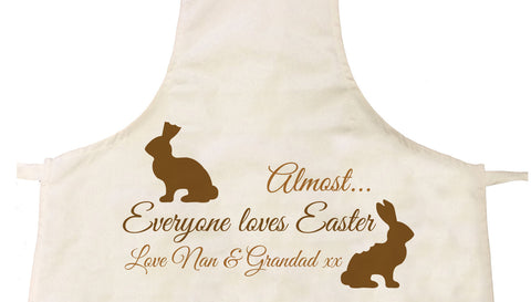 EA01 - Almost Everyone Loves Easter Bunny Personalised Apron