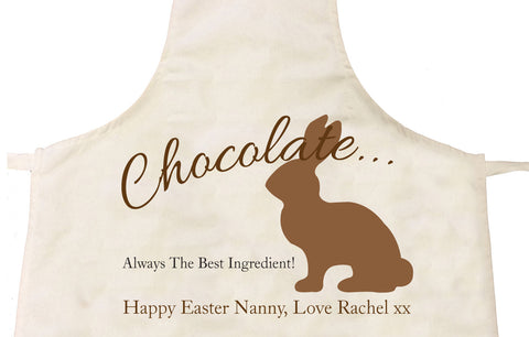 EA02 - Personalised Chocolate Easter Bunny Apron