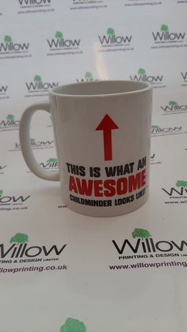 This is What an Awesome Childminder or Teacher looks like Mug & White Gift Box