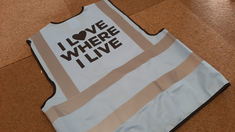 I Love Where I live Hi-Vis Vest for Children /Kids - Safety for Children