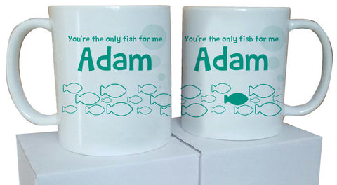 VA12 - You're the only fish for me Mug & White Gift Box