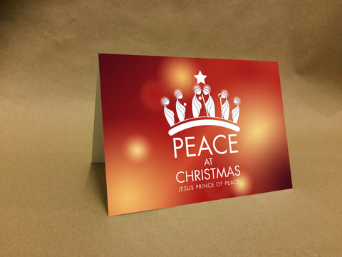 Christmas Cards for Business & Home, Religious Peace at Christmas with Kings