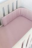 Dusty Pink Muslin Cot Bumper Cover