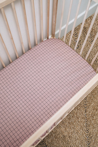 Bold Grid Cot Fitted Sheet