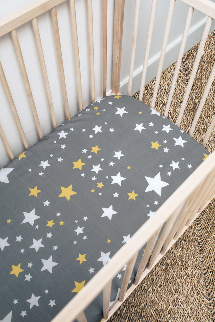 Starry Cot Fitted Sheet