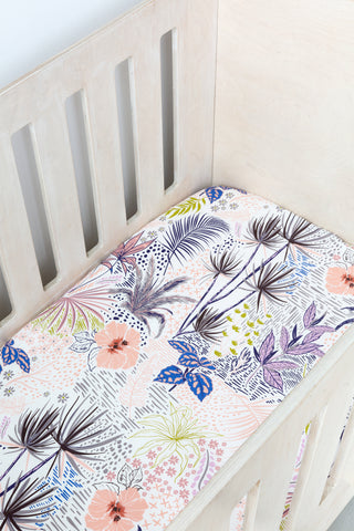 Botanical Cot Fitted Sheet