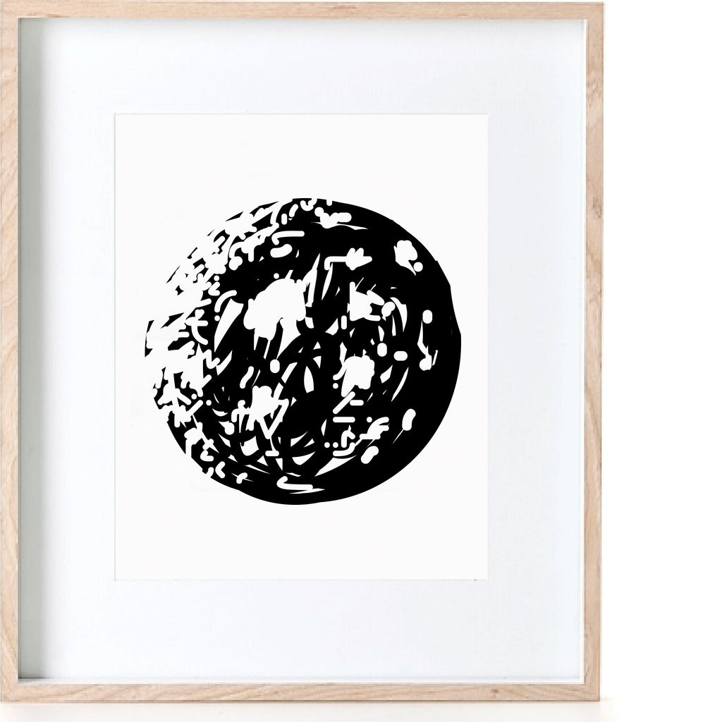 Abstract Moon Print