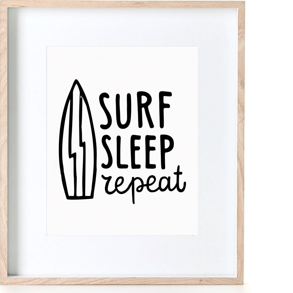Surf Sleep Repeat Print