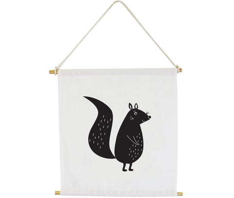 Squirrel Wall Banner