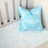 Paint Splatter Cot Fitted Sheet