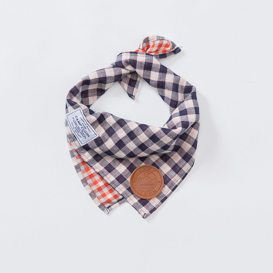 Albatross Reversible Check Neckerchief
