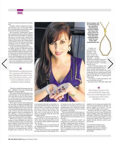 The Irish Times Article featuring She Adorns Jewelry