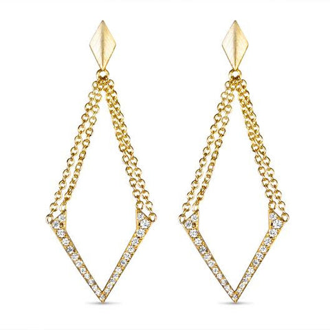 Double Chain V-Earrings