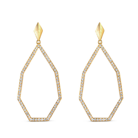 Heptagon Diamond Earrings