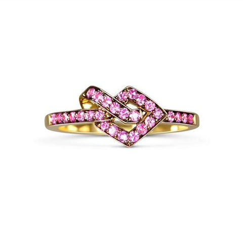 Pink Sapphire Knot Ring