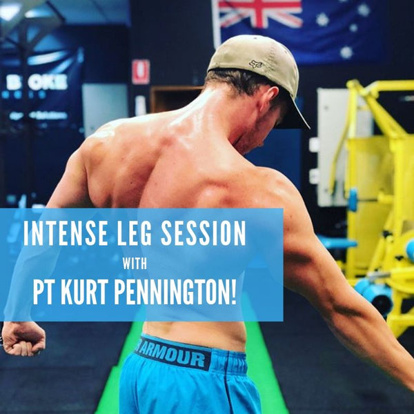 Intense Leg Session with PT Kurt Pennington!