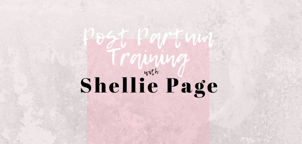 Post Partum Training by Shellie Page