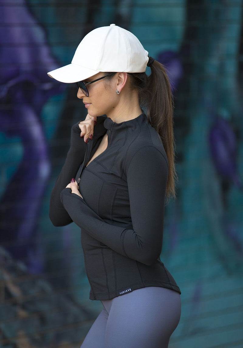 Ebony Freedom Jacket - Booty Bands and Activewear