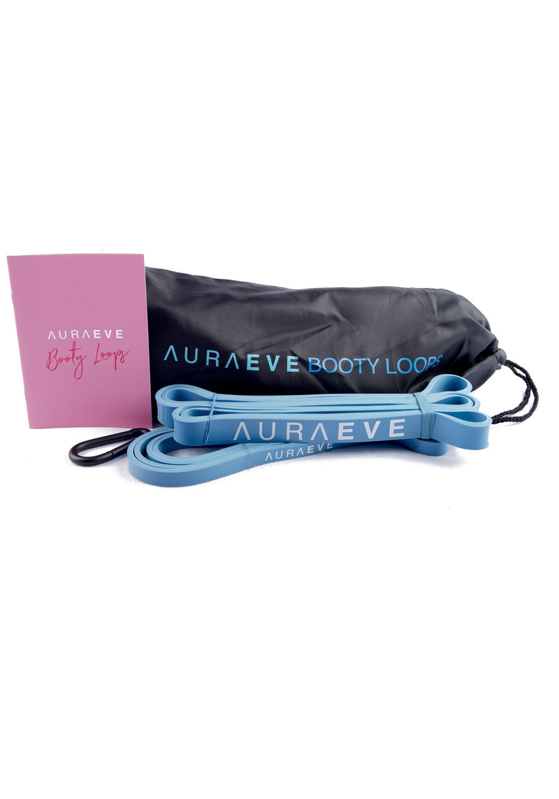 Blue Booty Loops - Resistance Loop Bands - Aura Eve - Booty Bands and Activewear