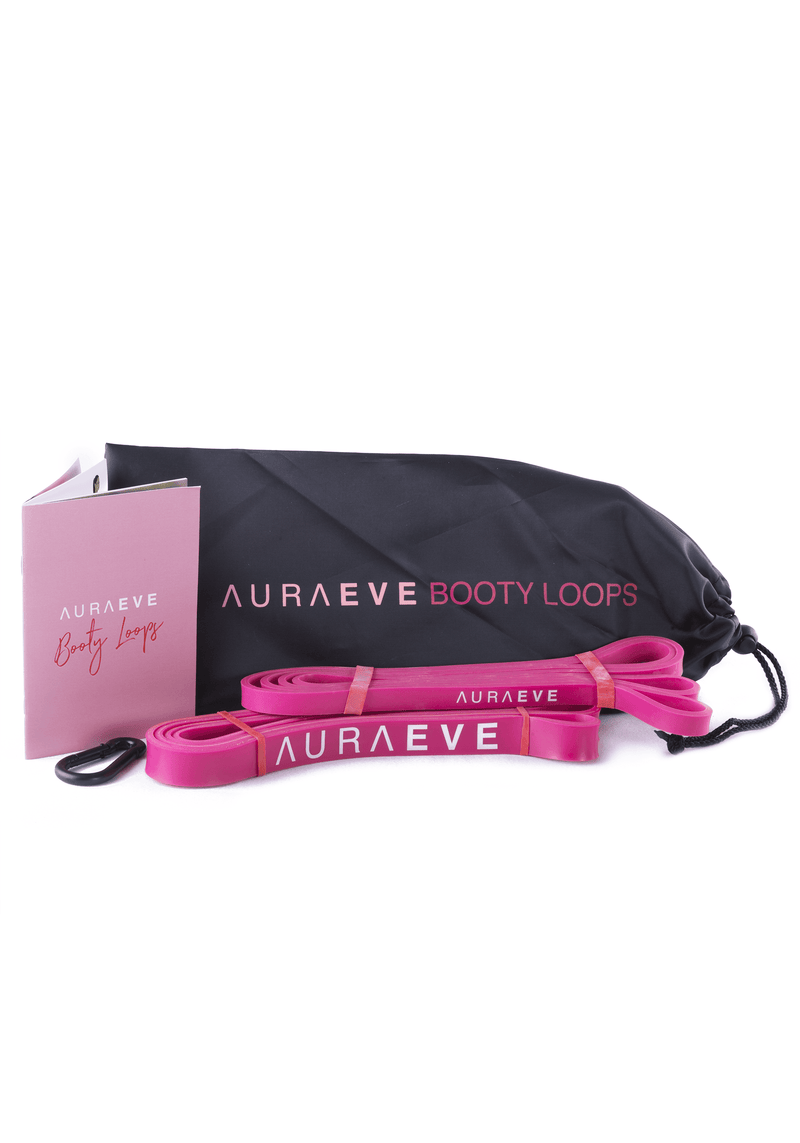 Pink Booty Loops - Resistance Loop Bands - Aura Eve - Booty Bands and Activewear