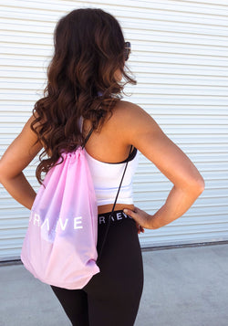 Pink Drawstring Bag - Booty Bands and Activewear