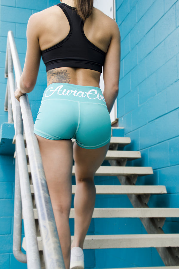 Mermaid Foundation Booty Shorts - Booty Bands and Activewear