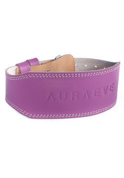 Lavender Leather Booty Belt