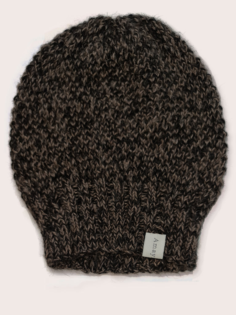 Amayi Alpaca - Beanie Hat Black Brown Mix
