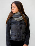 Amayi Alpaca - Infinity Scarf Charcoal & Light Grey