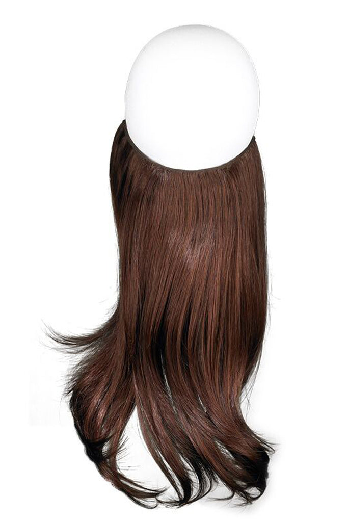 "Effortless Extensions – Hair Extension On A Wire, Synthetic Hair,16"" Flare,140 Grams, Auburn"