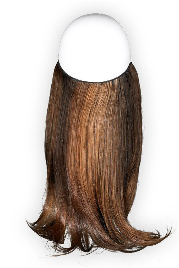 "Effortless Extensions – Hair Extension On A Wire, Synthetic Hair,16"" Flare,140 Grams, Espresso"