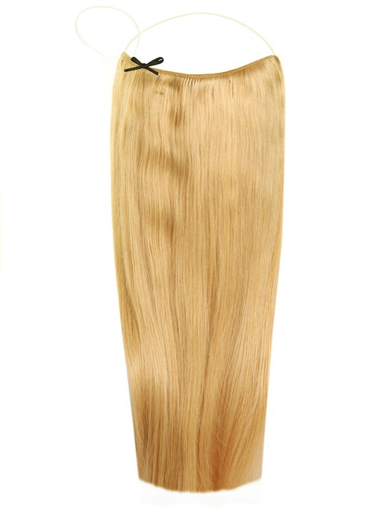 The Halo Weft Hair Extension On A Wire Human Hair Straight 16
