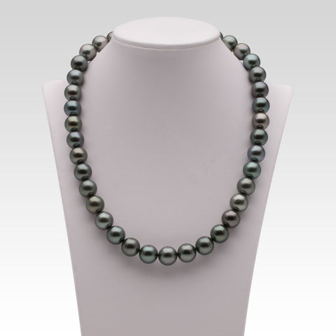 10-10.8mm Grey Tahitian Pearl Strand