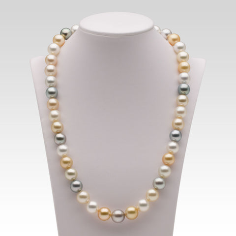 10-11.1mm Multi-coloured South Sea Pearl Strand