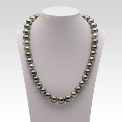 10-11.1mm Multi-coloured Tahitian Pearl Strand