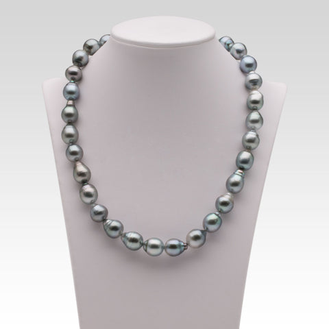 10-11mm Semi-Baroque Grey Tahitian Pearl Strand