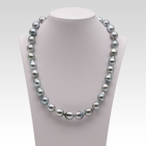 10-12.2mm Grey Semi-Baroque Tahitian Pearl Strand