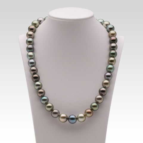 10.5-12mm Multi-coloured Tahitian Pearl Strand