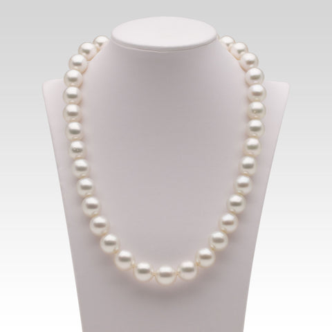 10.7-12.4mm White South Sea Pearl Strand
