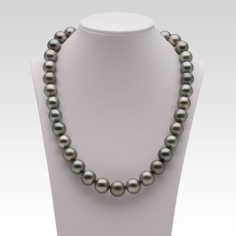 10.8-12.9mm Grey Tahitian Pearl Strand