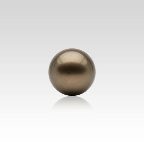 12-12.5mm Loose Dyed Chocolate Colour Tahitian Pearls