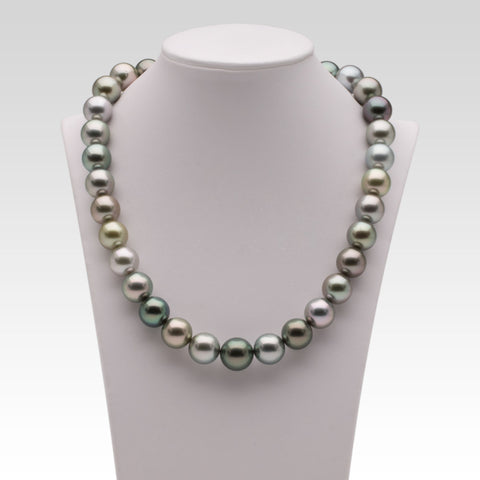 12-13.3mm Multi-coloured Tahitian Pearl Strand